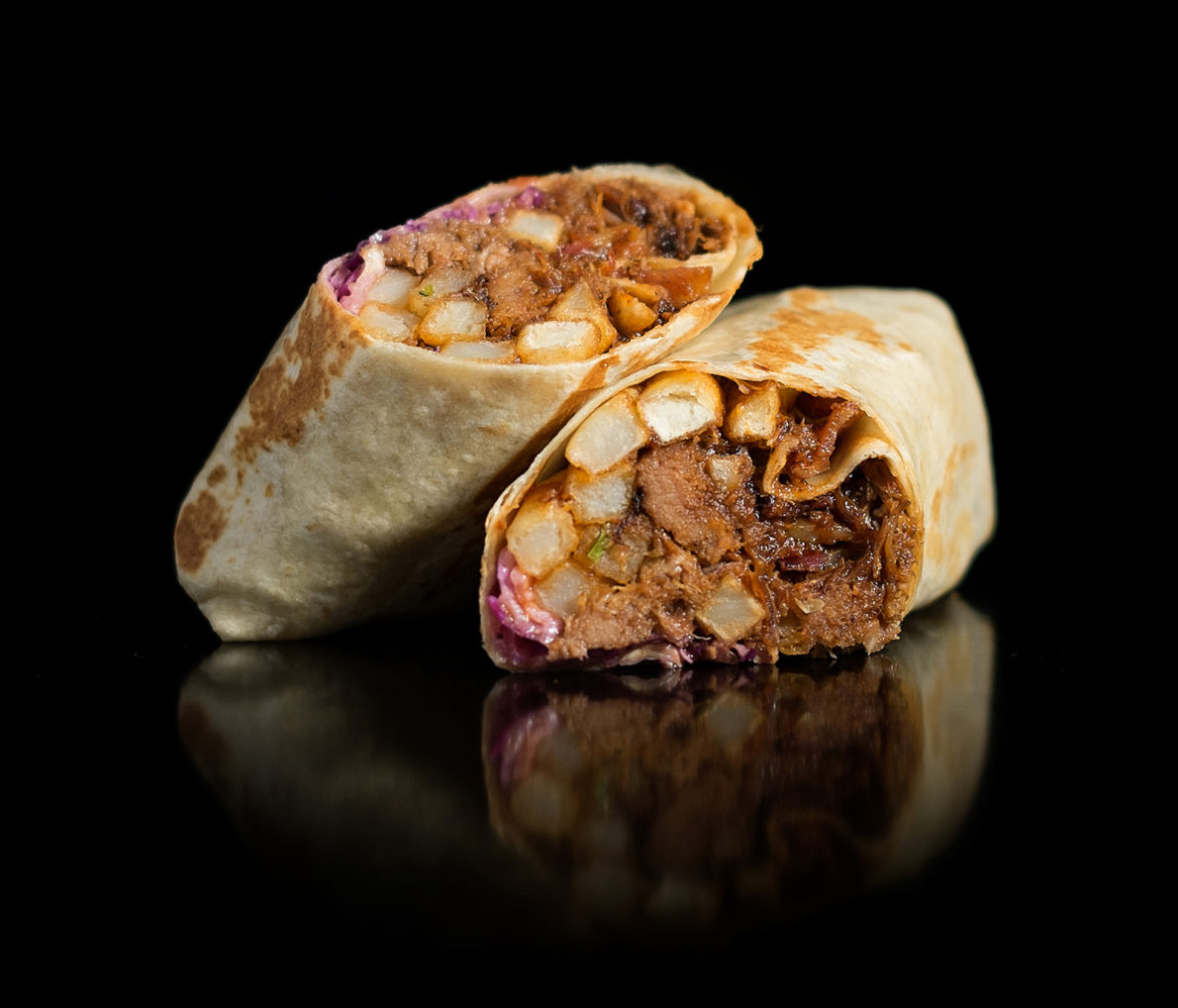 The California Bacon BBQ Burrito